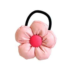 Baby Pink Eleanor Flower Blossom Ponytail Holder Beauty