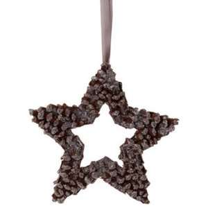 The Birches Brown Pine Cone Star Christmas Ornament