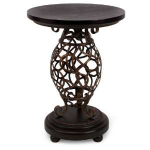 Open Iron Oval Occasional Side Table Arts, Crafts & Sewing