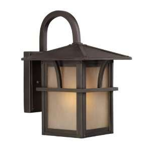 Gull Medford Lakes Outdoor Wall Lantern   Statuary Bronze Size   Small