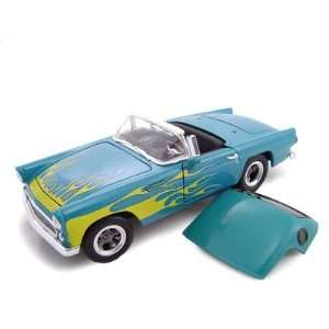 1956 Ford Thunderbird Street Rod Blue/Flames 1/24 Toys & Games