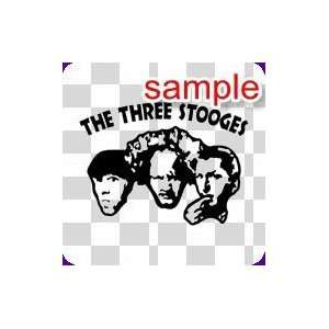 PEOPLE THREE STOOGES 10 WHITE VINYL DECAL STICKER