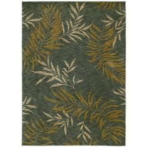 Tommy Bahama Rugs Home Nylon Florist Greens Ocean Contemporary Rug