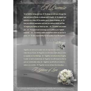 A Promise   Wedding Vow Road To Intimacy Tabletop/Wall