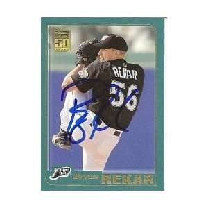 Bryan Rekar Tampa Bay Rays Signed 2001 Topps Trading Card
