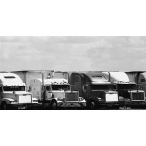 America sports Truck Stop in Black and White LICENSE PLATE