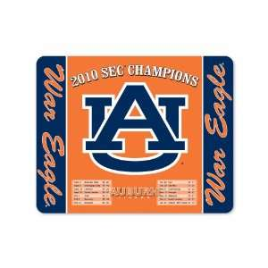 NCAA Auburn Tigers SEC Champions 2010 with War Eagle & Logo Full Color
