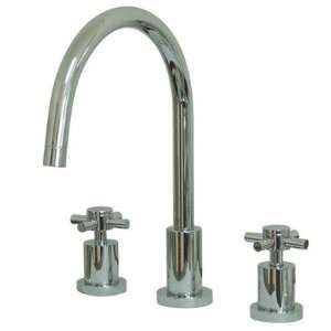 Double Handle Widespread Bar Kitchen Faucet with Cross Handle Finish