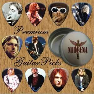 Nirvana Kurt 10 Premium Guitar Picks In Tin (0) Musical