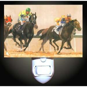 Race Horses Night Light