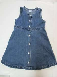 Baby Gap Toddler Girl Denim Dress Jean Jumper 4 4XL