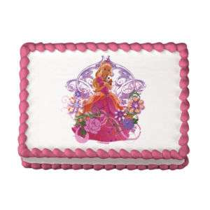 Personalizable BARBIE Theme Edible Cake Topper Image