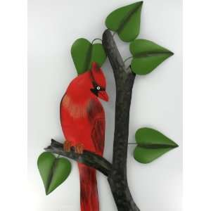 Cardinal Red Branch Leaves Wall Indoor Outdoor Art