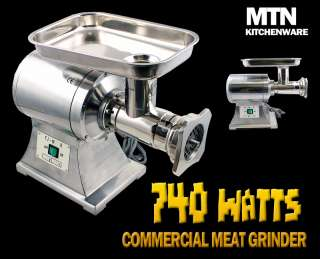New MTN Commercial Electric Meat Sauage Grinder No 22
