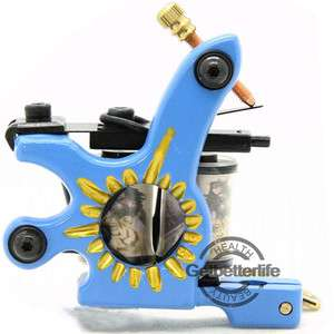 Pro Unique 10 Wraps Coil Tattoo Machine Gun Supplies For Liner