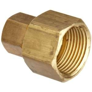 Anderson Metals Brass Tube Fitting, Coupling, 3/4 Compression x 3/4