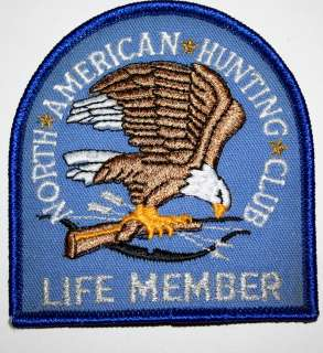 Vintage North American Hunting Club Life Member Cloth Patch unused