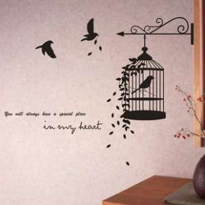 CUTIE BIRDS CAGE Wall Decal,quoteYoull always have a special place
